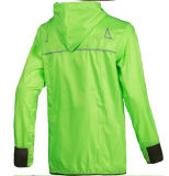 100% Dwr-Coated Polyester Unisex Running Jacket with Waterproof Feature