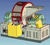 Автоматическая используемая неныжная автошина рециркулируя автомат для резки резины точильщика резца дробилки шредера