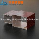 Perfil de aluminio de la protuberancia Finished de madera del grano para el marco de ventana de aluminio
