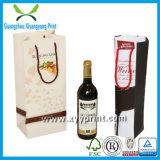 Bolsa de papel de papel de encargo del vino del regalo del bolso del vino para el vino