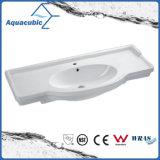 Dissipador de lavagem da mão cerâmica retangular da bacia do gabinete do banheiro (ACB4612)