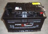 DIN75 12V75ah d'acide de plomb sèchent la batterie d'accumulateurs rechargeable chargée de véhicule