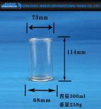 Suporte de vela de vidro do cilindro alto para a celebração do festival