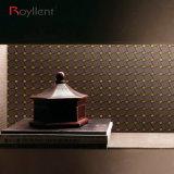 A parede metálica de Royllent telha a cor Home interior do café do mosaico da decoração