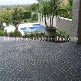 Black naturale Basalt Cobblestone, Non-Slip Cube Stone Paver per il patio