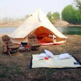 KhakiおよびGreen FabricのキャンプのBell Tent