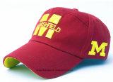 L'approvisionnement d'usine a personnalisé la casquette de baseball promotionnelle de sports de coton brodée par logo