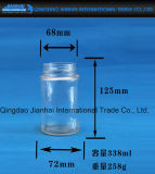 Conservar el tarro del cristal de botellas de cristal con los casquillos