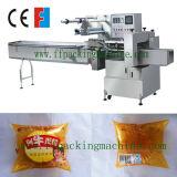 Máquina de empacotamento horizontal do fluxo do pão com controle do PLC
