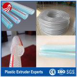 Línea reforzada fibra de la protuberancia del estirador del tubo de la pipa del PVC