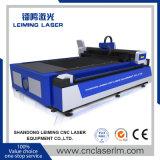 Laser Cuttr de fibre de Lm3015m pour le découpage de plaque de pipe de grand dos en métal