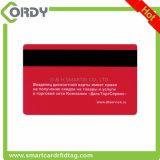 Carte en plastique de piste magnétique de carte principale d'hôtel de PVC de blanc de l'IDENTIFICATION RF T5577