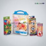 Caixa de presente de caixas de sapatos de plástico transparente com alça para venda