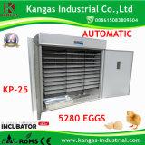 Incubateur complètement automatique d'oeufs retenant l'incubateur professionnel de poulet de 5280 oeufs de poulet (KP-25)