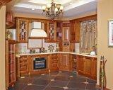 2017 gabinetes de cozinha da madeira contínua/mobília da cozinha (zq-028)