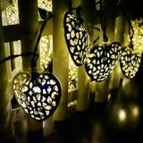 12 luz solar de la secuencia del corazón de la decoración del LED (RS1003)