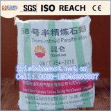 石蝋56-58/58-60/60-62/64-66、Kunlunのブランドの十分に精製された石蝋58-60のDeg c、高品質、固体形式および十分に精製された洗練の大きさP