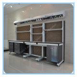 Banc latéral de laboratoire en bois en acier d'armature de C