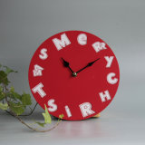 새로운 RoHS 나무로 되는 크리스마스 시계