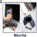 スリップ防止極度の超薄く細いシリコーンベースMicrofiberのマウスパッド