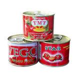 Органический законсервированный томатный соус с красным цветом, обрабатывать 28%~30% Brix сконцентрированный двойником