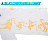 Camicia di polo promozionale poco costosa del cotone di abitudine 100