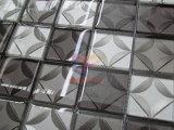 Azulejo de mosaico gris y de plata del vidrio cristalino del color 3D (CFC684)