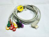 Кабель руководств ECG кабеля 10 Holter DMS