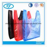 PE рециркулирует хозяйственную сумку тельняшки супермаркета цветастую