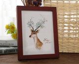 O frame da foto da decoração da madeira contínua de classe elevada de baixo custo pode ser tabela e suspensão na parede