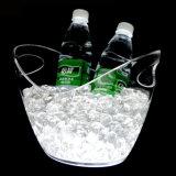 대중적인 투명한 8L v 모양에 의하여 조명되는 포도주 얼음 양동이