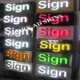Signe éclairé à contre-jour de lettre en métal de la publicité extérieure