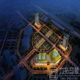 都市計画目のBirfの眺め3Dのレンダリング