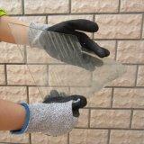 Gant de travail de Protectiion de sûreté de gants de fibre de Hppe d'enduit de nitriles de Sandy