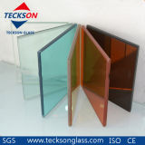 5.38-16.76mm Clear, Grey, Bronze, F Green와 Other Colored PVB Safety Laminated Glass