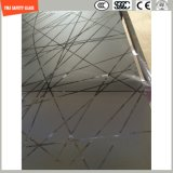el grabado de pistas ácido de la huella digital del Silkscreen Print/No de 4-19m m/heló/el vidrio templado/endurecido de la seguridad del modelo para la puerta/la puerta de la ventana/de la ducha en hotel y hogar
