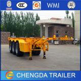 ISO China billig Cimc 2 Behälter-skelettartiger Schlussteil der Wellen-40ft