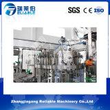 Máquina de rellenar carbónica automática del agua mineral de la botella de cristal 3 in-1