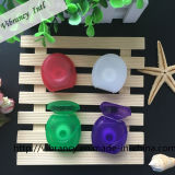 Kundenspezifische orale Hygiene-runde Form-zahnmedizinische Glasschlacke