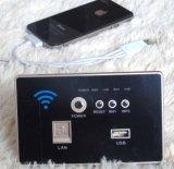 Padrão de carregamento sem fio encaixado parede do preto With118 do painel do soquete do USB de WiFi do router sem fio do Ap