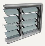 Окно жалюзиего матированного стекла рамки селитебной ранга алюминиевое