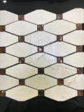 다이아몬드 노란 대리석 돌 모자이크 타일