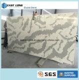 Laje artificial da pedra de quartzo da cor de mármore para a bancada