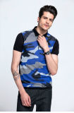 Polo all'ingrosso Shirt Fit Camouflage Color Men Sweater per Summer