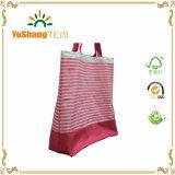 Kundenspezifischer preiswerter Baumwollstreifen-Segeltuch-Strandtote-Beutel-Großverkauf