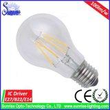 Obscurcissement de la lampe d'ampoule de filament de Ce&RoHS E27 A60 6W DEL
