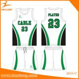 昇華印刷の網のワイシャツの女の子の青年可逆バスケットボールのユニフォーム
