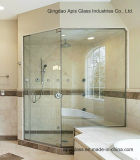 Ausgeglichenes Dusche-Tür-Glas, Drlling Löcher mit Cer und SGCC