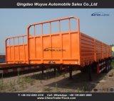 塀およびウィンチが付いている3つの車軸側面の貨物トレーラー