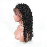 Человеческих волос девственницы Kindy Culry парик шнурка индийских полный с челками